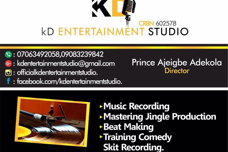 Best Entertainment Studios In Badagry – KD Entertainment