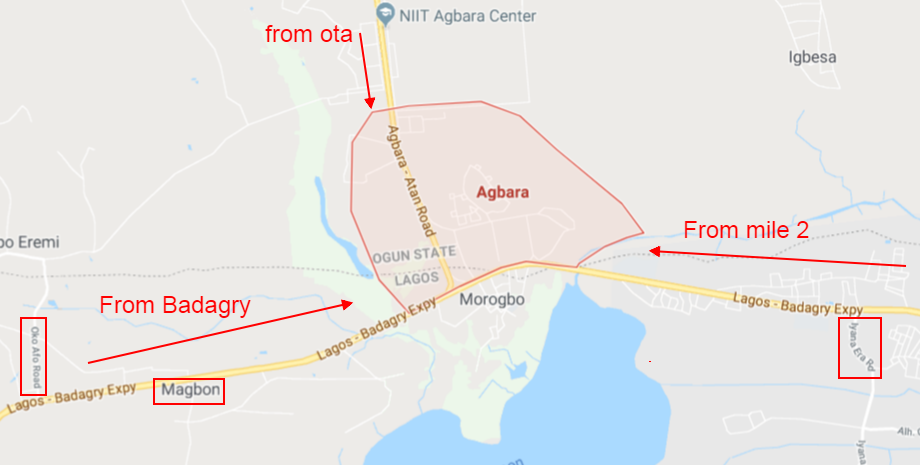 routes to agbara