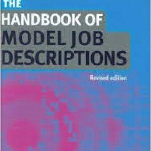 Handbook Of Model Job Description