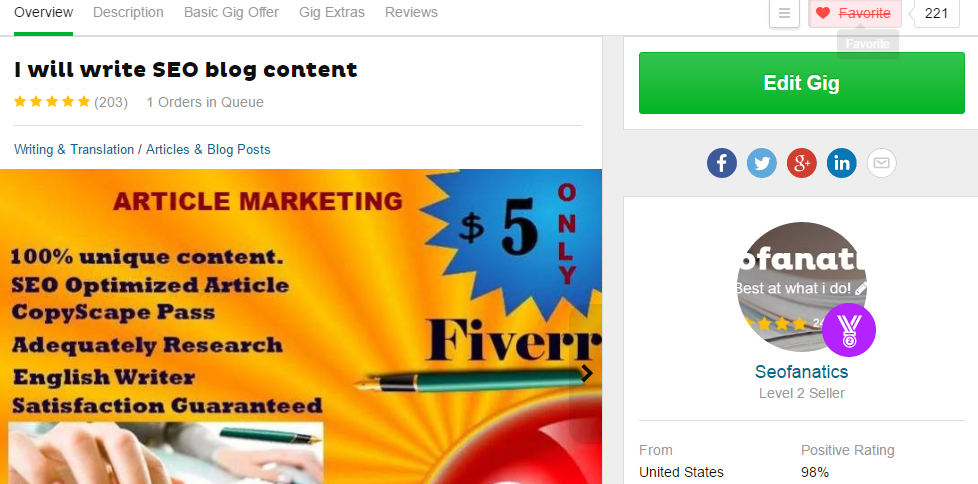 10 Impressive Writers on Fiverr With Great Reviews