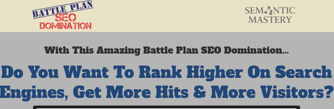 SEO Ranking Battleplan Free Download